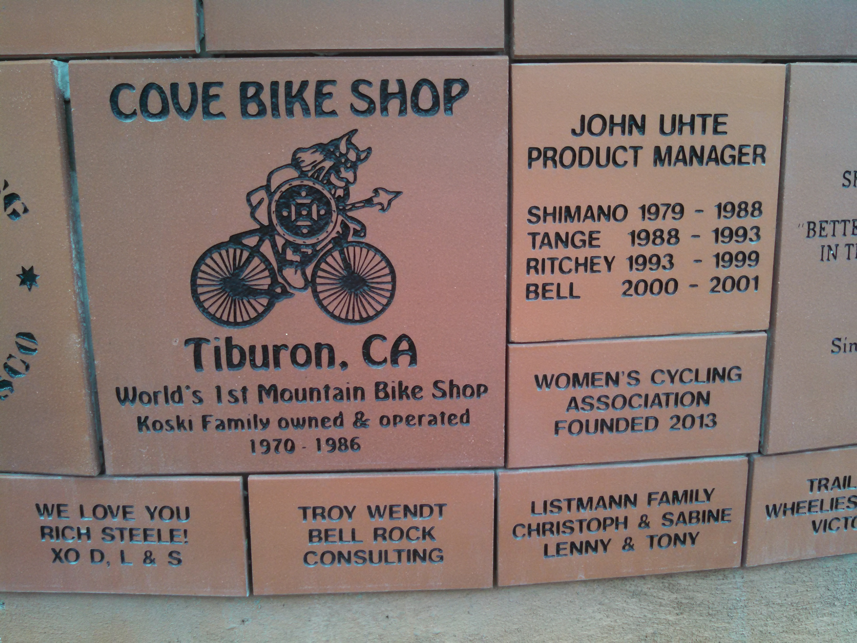 Mt Tam Legacy Wall Campaign Marin Museum Of Bicycling And