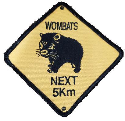 Aussie Wombat road sign